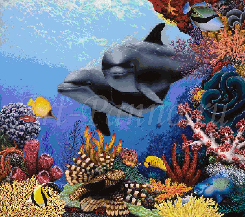 Мозаичное панно подводный мир 2001