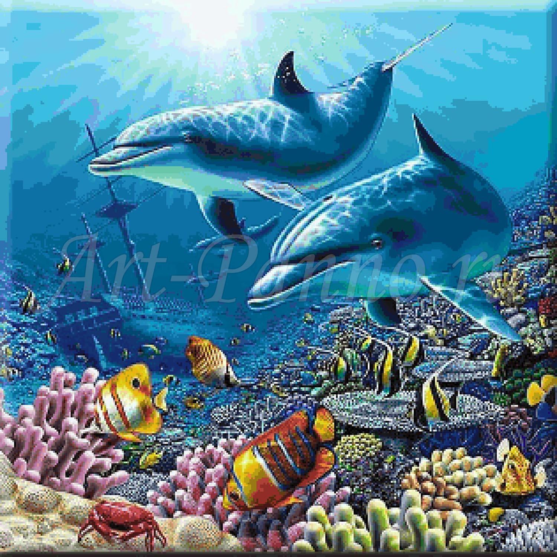 Мозаичное панно подводный мир 2006