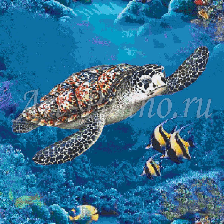 Мозаичное панно подводный мир 2037