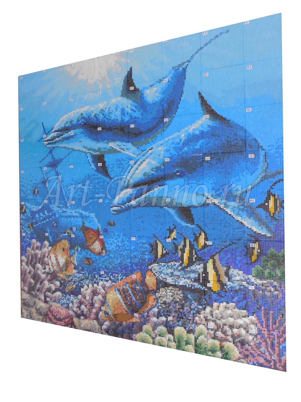 Мозаичное панно подводный мир 2006-1
