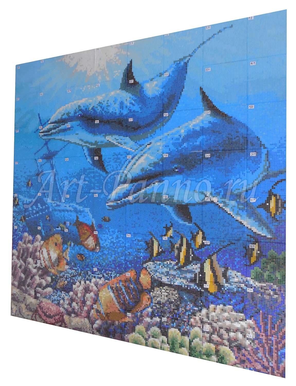 Мозаичное панно подводный мир 2006-2