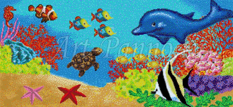 Мозаичное панно подводный мир - Детский сад