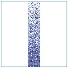 Растяжка из стеклянной мозаики