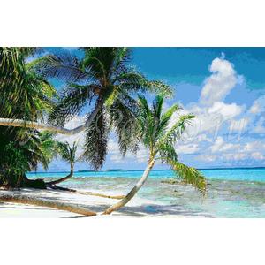 Мозаичное панно тропики 4004