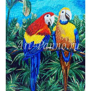 Колотое панно - Попугаи
