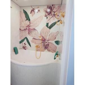 Колотое панно - Цветы-14FloB&W
