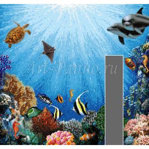 Мозаичное панно подводный мир 2043