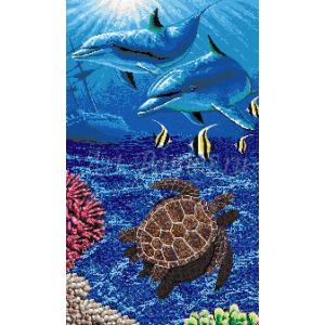 Мозаичное панно подводный мир 2044