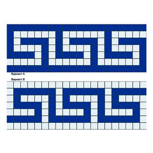 Бордюр из мозаики - B-01