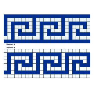 Бордюр из мозаики B-02